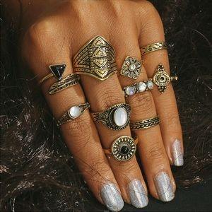 Jewelry - NWT | Boho Rings Set
